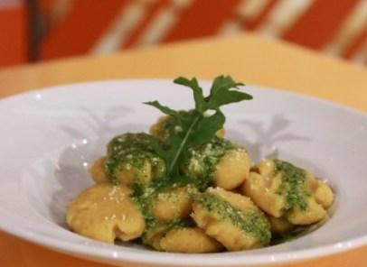 Gnocchi de batata-doce com Pesto de rúcula