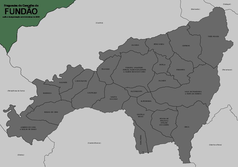 Mapa Concelho do Fundão
