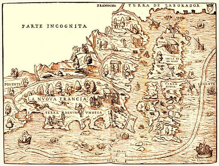 Mapa da Terra Nova na Idade Média