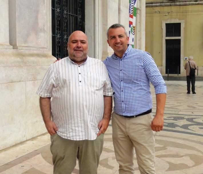 Com o amigo Simion Croitoru, representante dos Vinhos da Moldávia em Portugal
