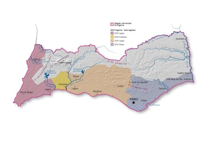 A Região de Vinhos do Algarve com os seus 4 DOP's
