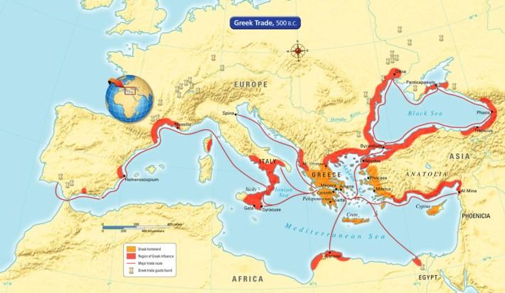 Rotas dos gregos antigos