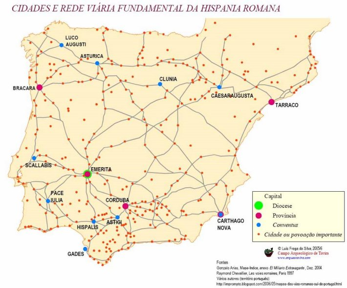 Rede de vias romanas na Península Ibérica