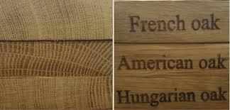 Alguns tipos de madeira e perfis das aduelas