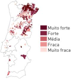 mapa distribuicao