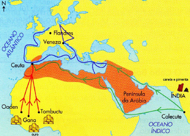 A conquista de Ceuta permitiria controlar a Rota do Ouro e especiarias