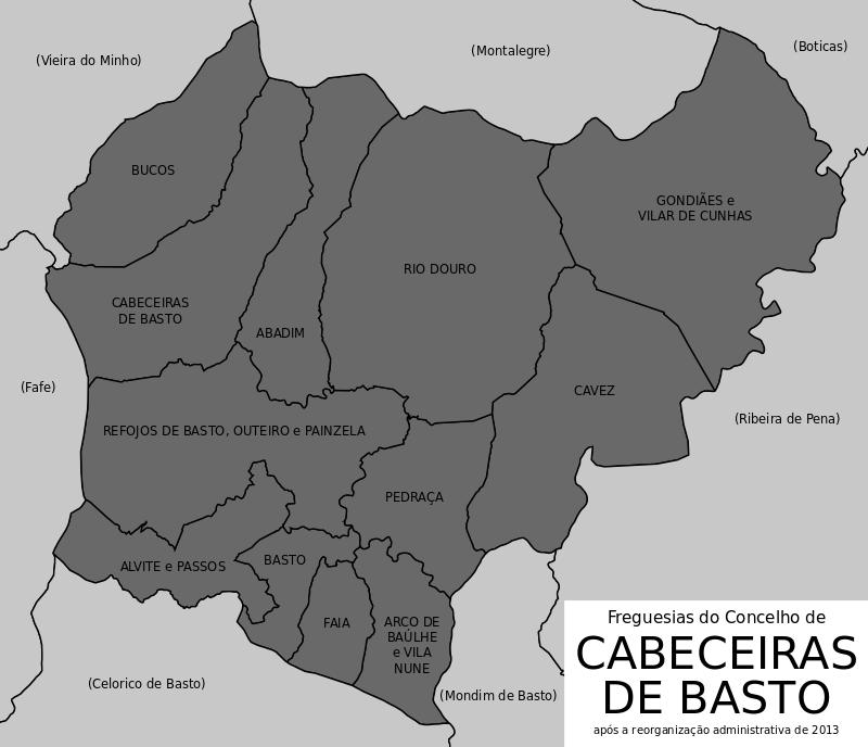 Cabeceiras de Basto Mapa