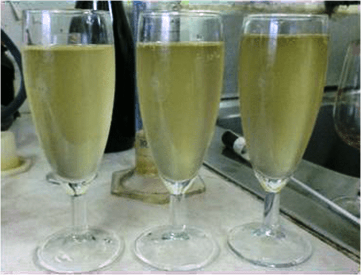 Espumante apos 1 semana fermentacao