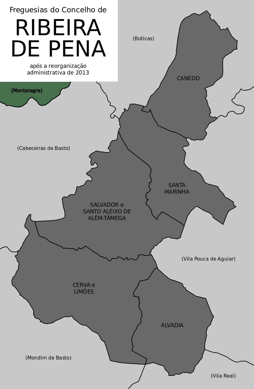 Ribeira de Pena Mapa