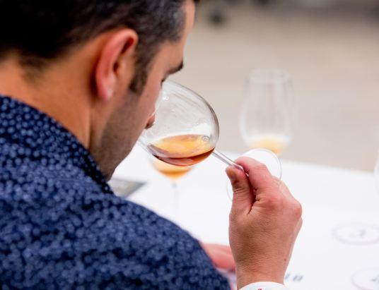 Wine Fest Coimbra 2018 no Convento de Sao Francisco , feira de vinhos onde productores vinicolas apresentam os seus vinhos ao publico . Ha tambem uma serie de provas exclusivas . Coimbra , 09 de Junho de 2018 .©Enric Vives-Rubio