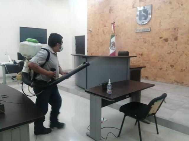 Reporte semanal de desinfecciones en el Poder Judicial