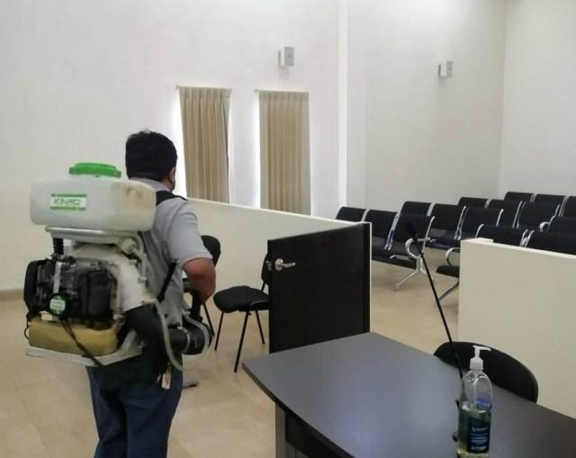 Se mantienen jornadas de desinfección en edificios del Poder Judicial de Yucatán