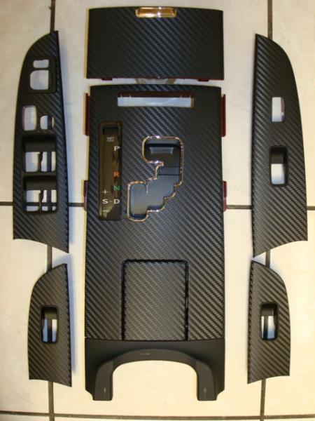 CA FS OEM Wood Interior Trim Wrap In Carbon Fiber Overlay