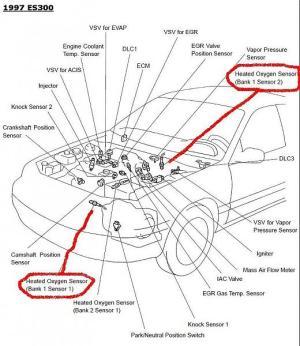 99 ES300 O2 Sensor or Air Fuel Ratio Sensor?  Club Lexus