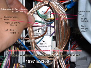 9799 ES300 wiring for factory Amp  Club Lexus Forums