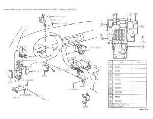 SC300SC400 Mirror Control ECU VERY SHORT DIY (no pictures