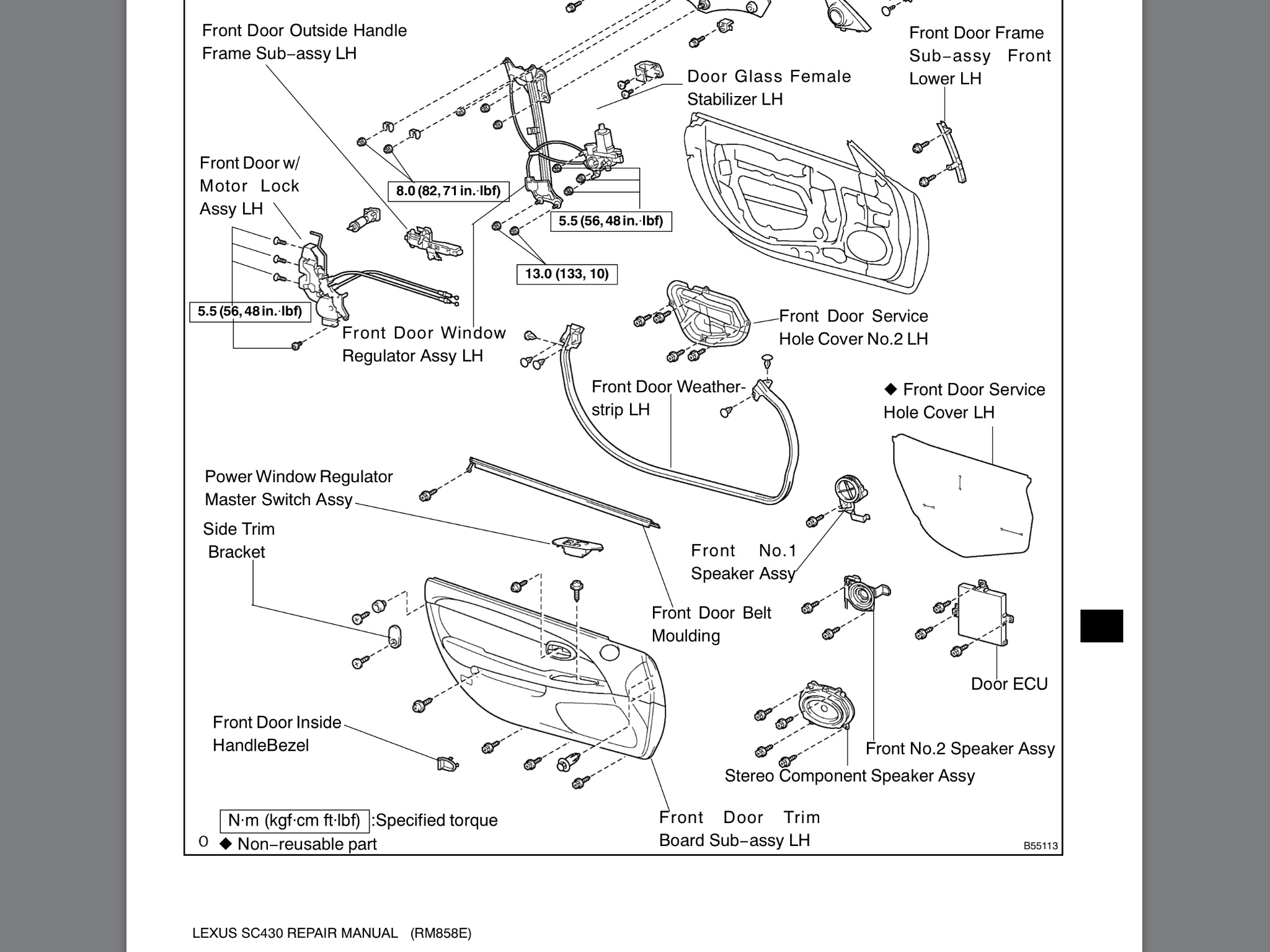 Service Manual Diagrams To Remove Lexus Is Driver