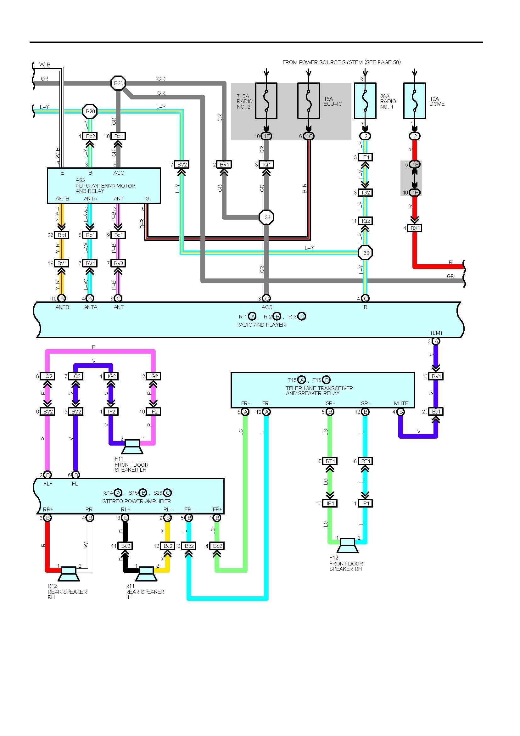 Lexu Wiring Diagram