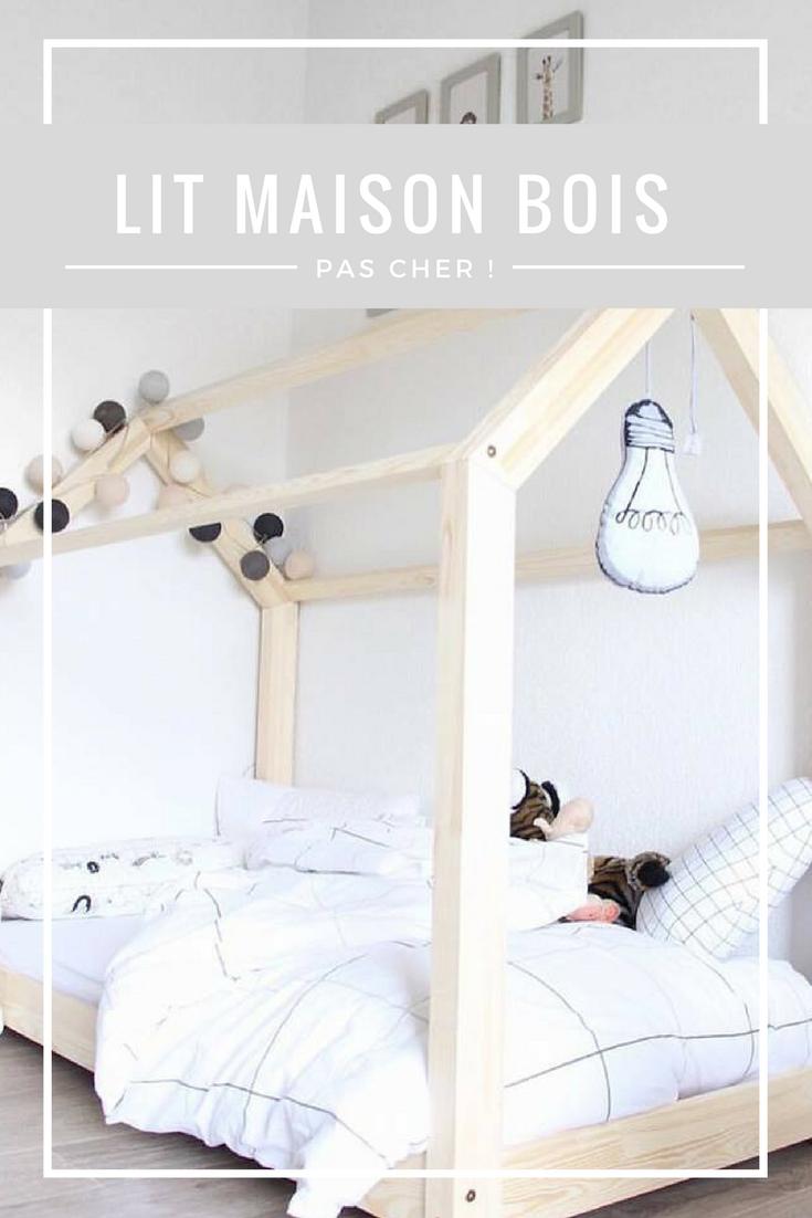 le fameux lit maison en bois pas cher