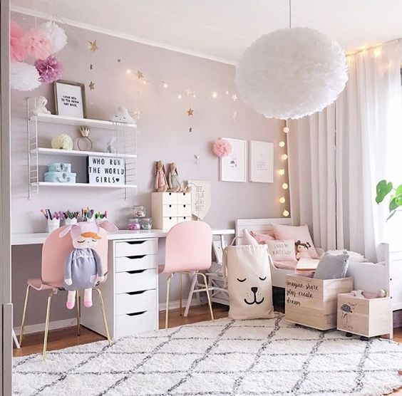 SHOP THE ROOM   D    coration chambre fille rose pastel   Club Mamans D    coration chambre fille rose pastel