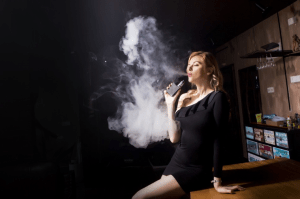 A smoking woman