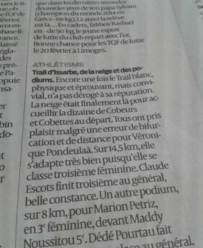 Running & Trail SUD OUEST 13 02 2016