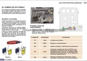 307  Solución chispazo El coche no arranca Caja de fusibles Peugeot 307