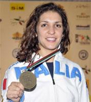 Arianna Errigo con la medaglia di bronzo conquistata a Plovdiv