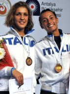 Arianna Errigo ed Elisa Di Francisca con il bronzo