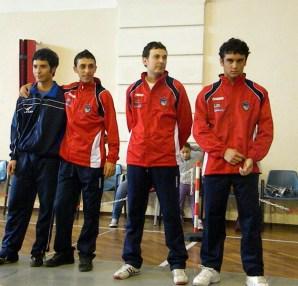 Premiazione spada maschile a Platania 2010