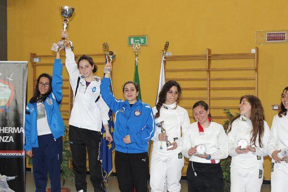 Premiazione spada femminile Coppa Italia