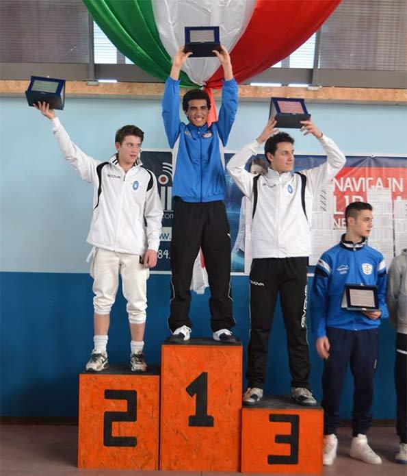 Premiazione spada maschile Rogliano 2014