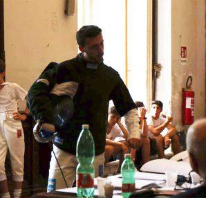Paolo Bruno maestro di scherma, esame