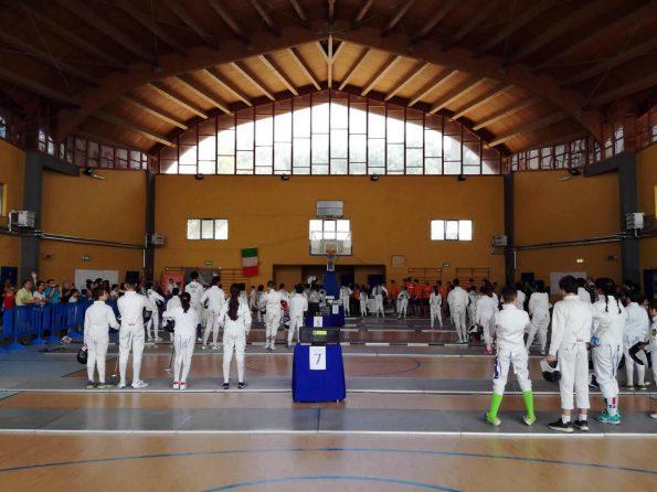 Trofeo Caffe Aiello 2018: atleti schierati per l'inno nazionale