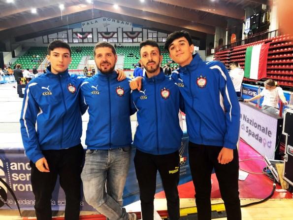 Prova Cadetti a Legnano: Valente, Perri, Bruno, Barilà