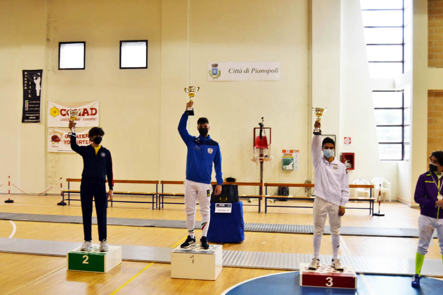 Prova di qualificazione Cadetti e Giovani: il podio di spada maschile Under-17