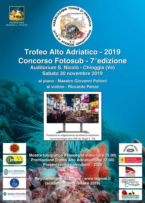 Locandina del Concorso Fotosub VII Trofeo Alto Adriatico 2019