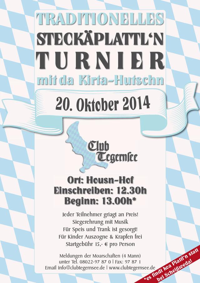 Traditionelles Steckäplattl'n Turnier mit da Kirta-Hutschn