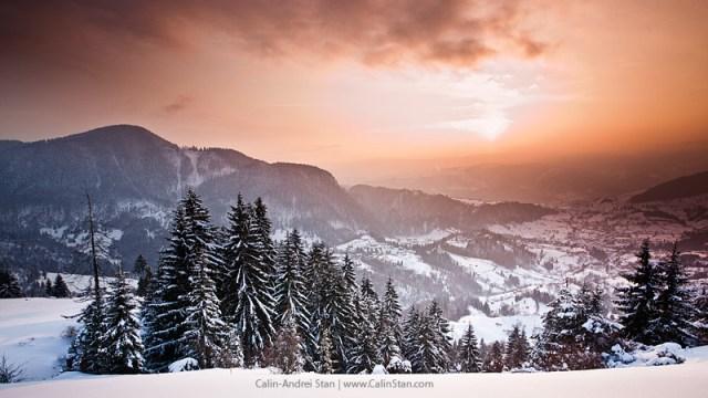 Peisaj de iarna cu filtru tobacco