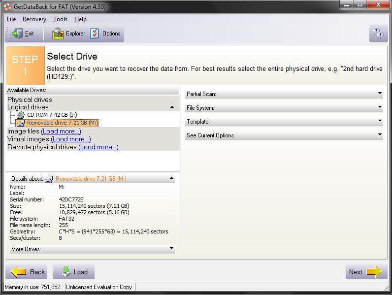 GetDataBack FAT NTFS 4.32 Portable