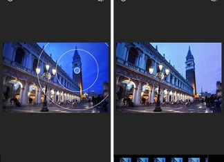 Blur tool si noul mod de aplicare al filtrelor (similar Instagram)