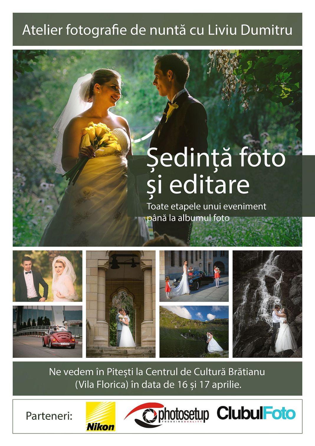 Workshop de fotografie de nunta cu Liviu Dumitru