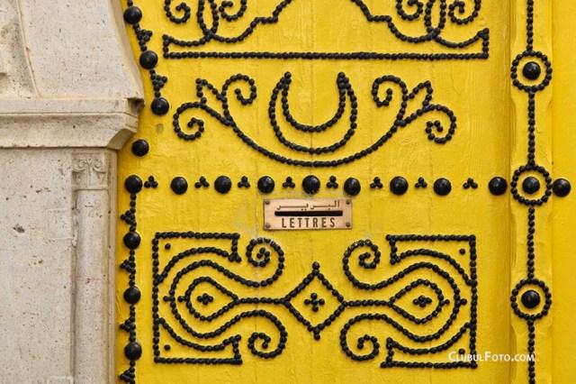 Detaiu al unei usi traditionale din Tunisia
