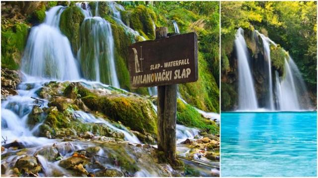 Cascade din Parcul Natural Plitvice (Croatia) fotografiate cu filtrul ND si expunere lunga