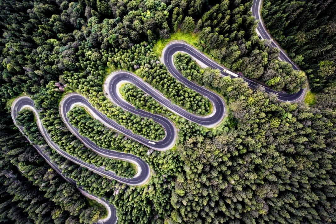 Locul 2, categoria Nature: Infinite Road to Transylvania - Calin Stan - TheDrone.ro