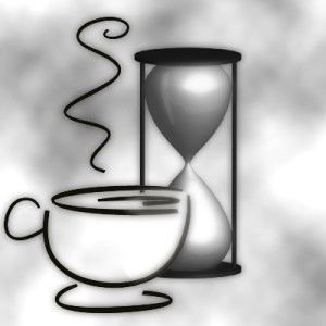 Coffee cup and hourglass (senses)