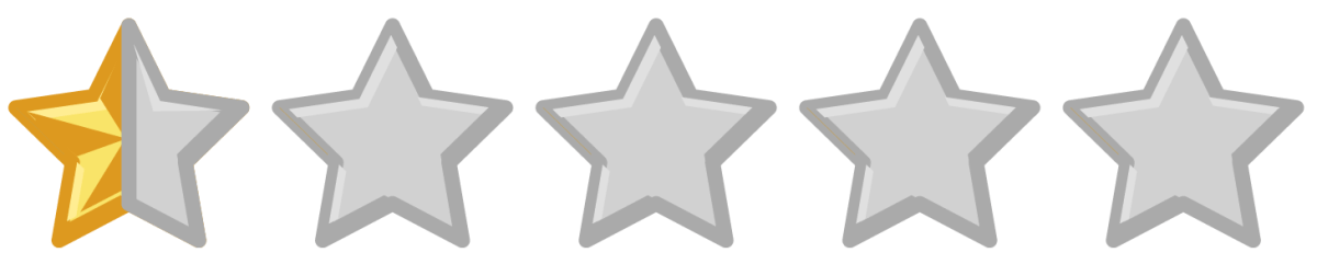 0.5-Star Rating Image