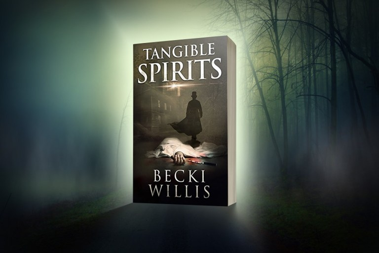 Tangible Spirits cover set in eerie forest backdrop