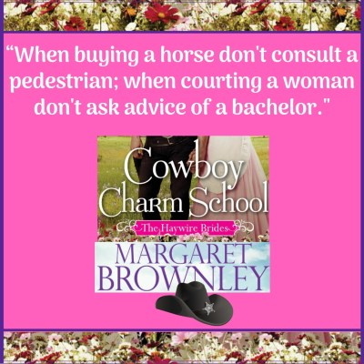 "Advertising Graphic: ""When buying a horse don't consult a pedestrian; when courting a woman don't ask advice of a bachelor."""