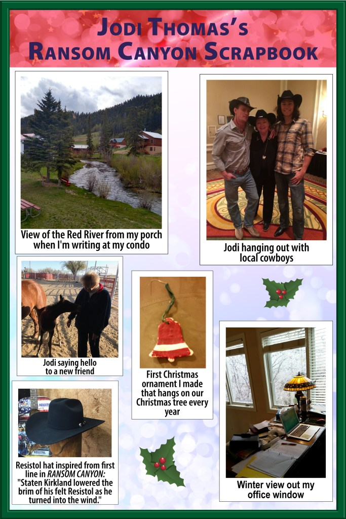 Six photos from Jodi Thomas's Ransom Canyon Scrapbook